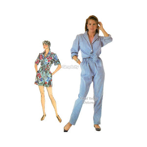 Womens Easy Romper Pattern, Simplicity 7897