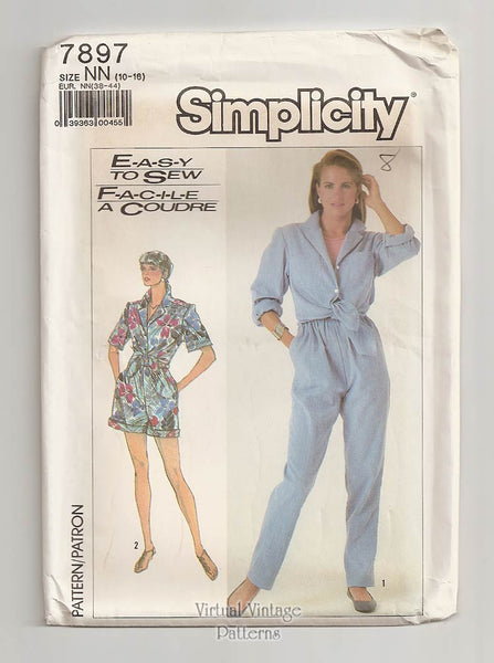 Simplicity 7897, Womens Easy Romper Pattern