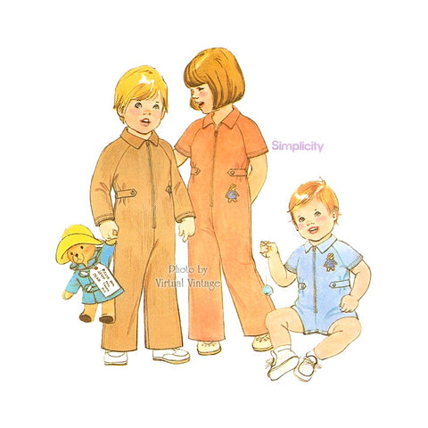 Baby Romper Pattern, Simplicity 8329, Toddler Jumpsuit Sewing Pattern