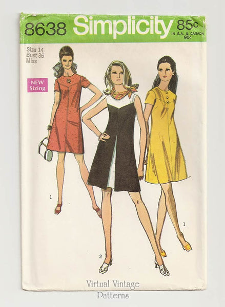 Simplicity 8638, Inverted Pleat Dress Pattern