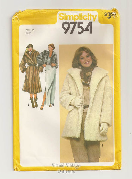 Simplicity 9754, Winter Jacket Sewing Pattern