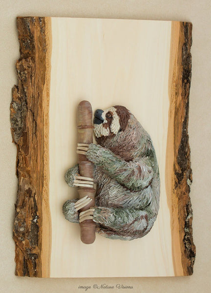Three Toed Sloth Sculpture