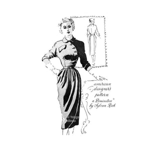 50s Asymmetrical Dress Pattern, Spadea 1042