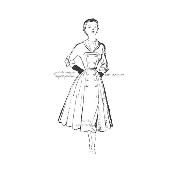 Fira Benenson Dress Pattern, Spadea 1106