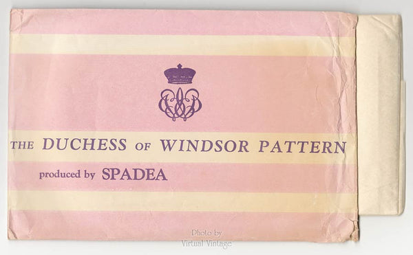 50s Spadea Pattern #2, Lace Top Slim Skirt Dress Sewing Pattern by Duchess of Windsor, Bust 42 Uncut