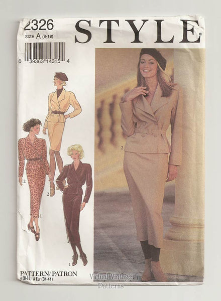 Style 2326, Womens Jacket & Skirt Patterns