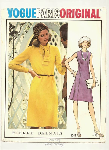 70s Vogue Paris Original 1019, Pierre Balmain dress