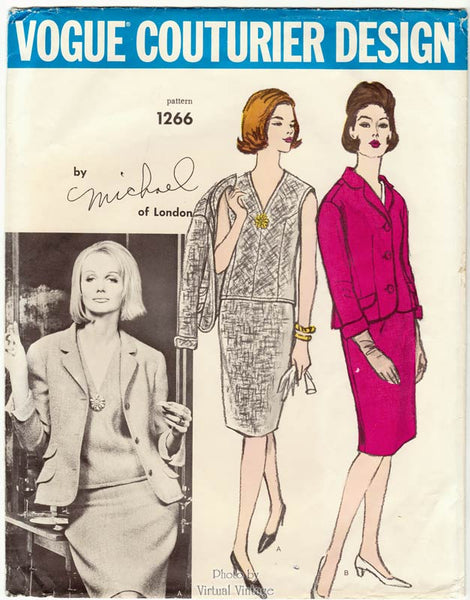60s Vogue Couturier Design 1266 by Michael of London