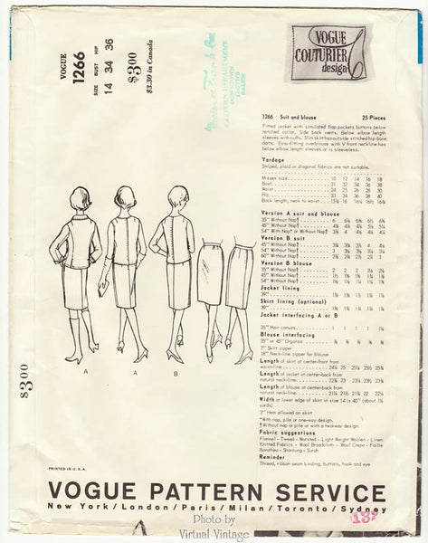 Vogue Couturier Design pattern 1266