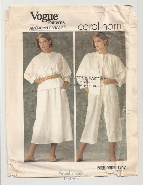 Vogue American Designer Pattern 1347, Carol Horn Clothing
