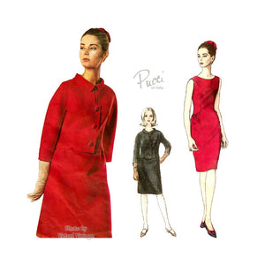 Emilio Pucci Dress & Jacket, Vogue Couturier Design Pattern 1490