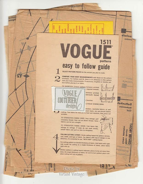 John Cavanagh Vogue Couturier 1511 Womens Suit Pattern Bust 32 Uncut with Sew-in Label