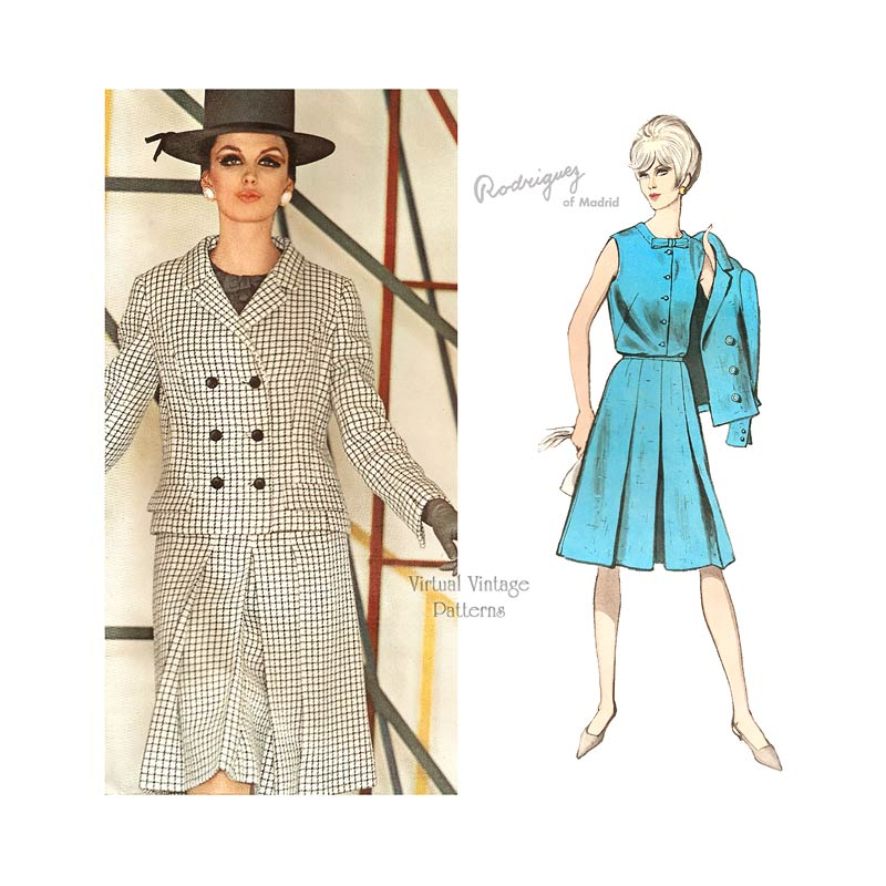 Womens Suit Pattern, Vogue Couturier Design 1527