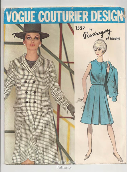 Vogue Couturier Design 1527, Womens Suit Pattern, Rodriguez of Spain