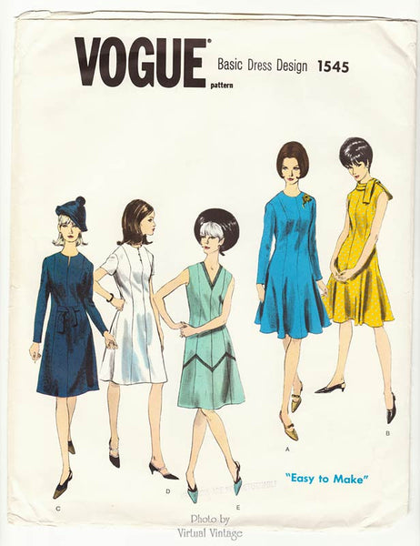 Vogue Basic Design 1545 1960s dress pattern