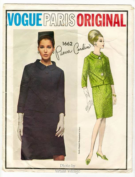 Vogue Paris Original 1662 Pierre Cardin Womens Suit Pattern