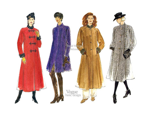 Womens Coat Pattern, Vogue Basic Design 1665