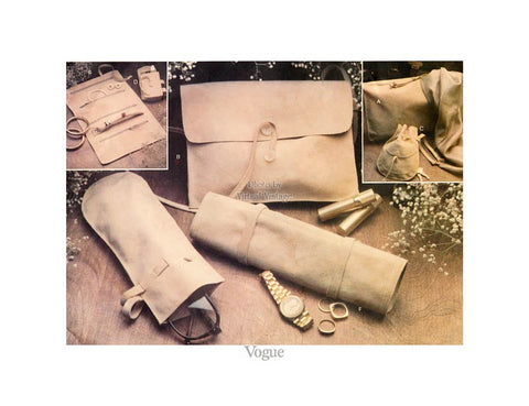 Vogue Purse Pattern 1703, Synthetic Suede Accessories