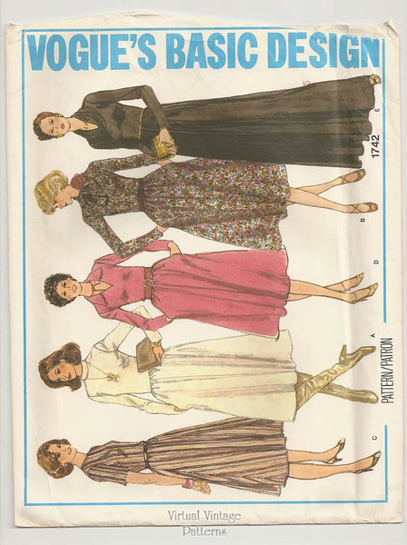 Vogue Basic Design 1742, 1970s Dress Pattern