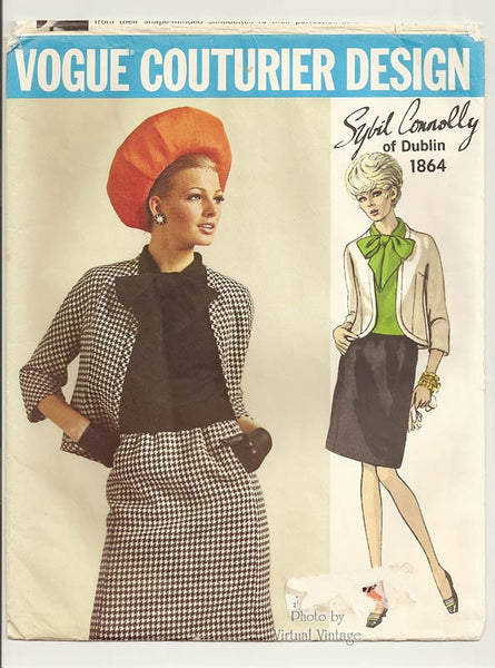 Vogue Couturier 1864, Sybil Connolly 1960s Womens Suit Pattern