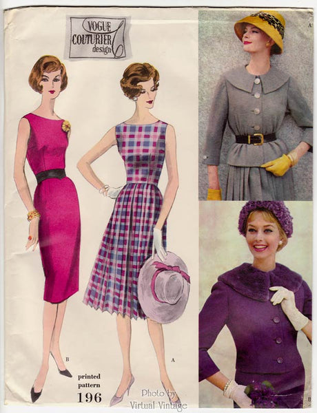 Vintage Vogue Couturier 196, 50s Jacket & Dress Pattern