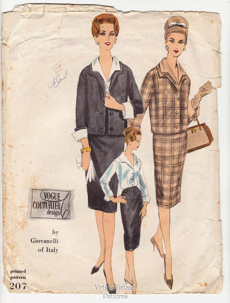Giovanelli Vogue Couturier 207, 60s Womens Suit Pattern