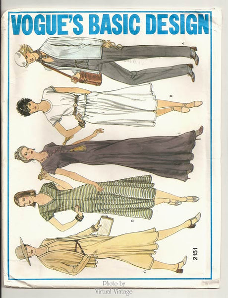 Vogue 2151, Stretch Knit Top, Pants, Skirt & Dress Pattern