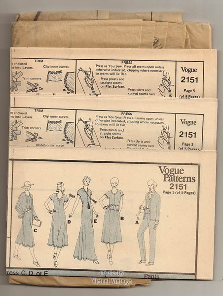 Stretch Knit Maxi Dress Pattern, Vogue 2151, Jacket, Top or Dress, Pants & Skirt, Bust 36, Uncut