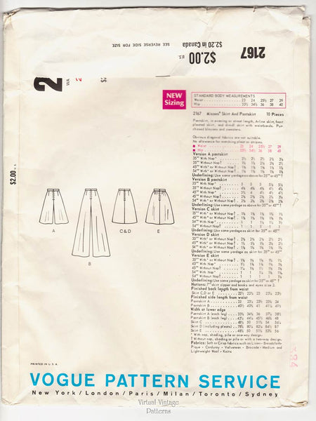 Vogue Basic Design 2167