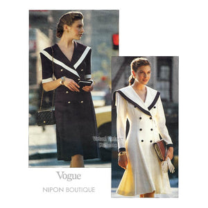 Womens Sailor Dress Pattern, Vogue 2457