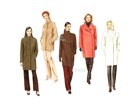 Easy Plus Size Coat Pattern, Vogue Basic Design 1472