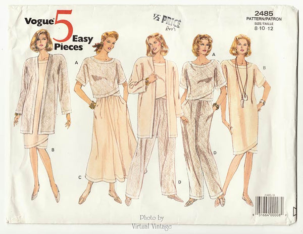 Vogue 5 Easy Pieces 2485, Womens Clothing Patterns