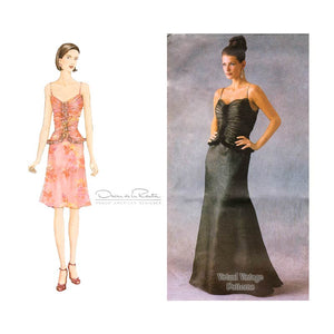 Oscar de la Renta Dress Pattern, Vogue 2584