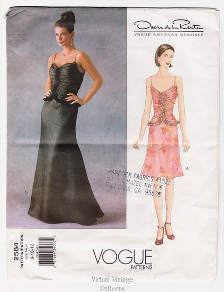 Vogue 2584, Oscar de la Renta Dress Pattern
