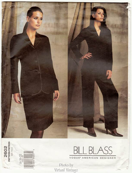 Vogue American Designer 2602, Plus Size Sewing Patterns, Women's Suit