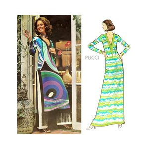 1970s Pucci Dress Pattern, Vogue Couturier 2713