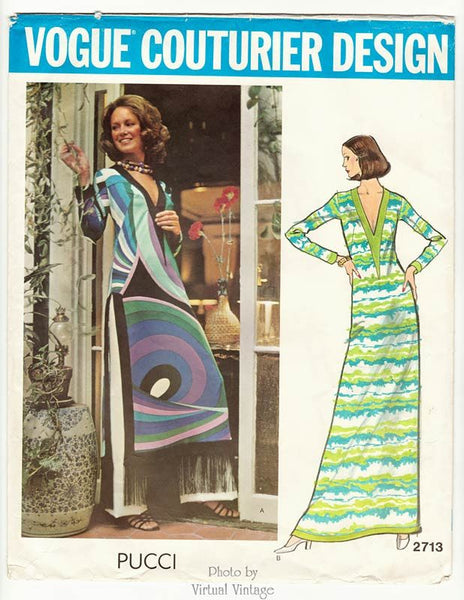 Vogue Couturier 2713, 1970s Pucci Dress Pattern