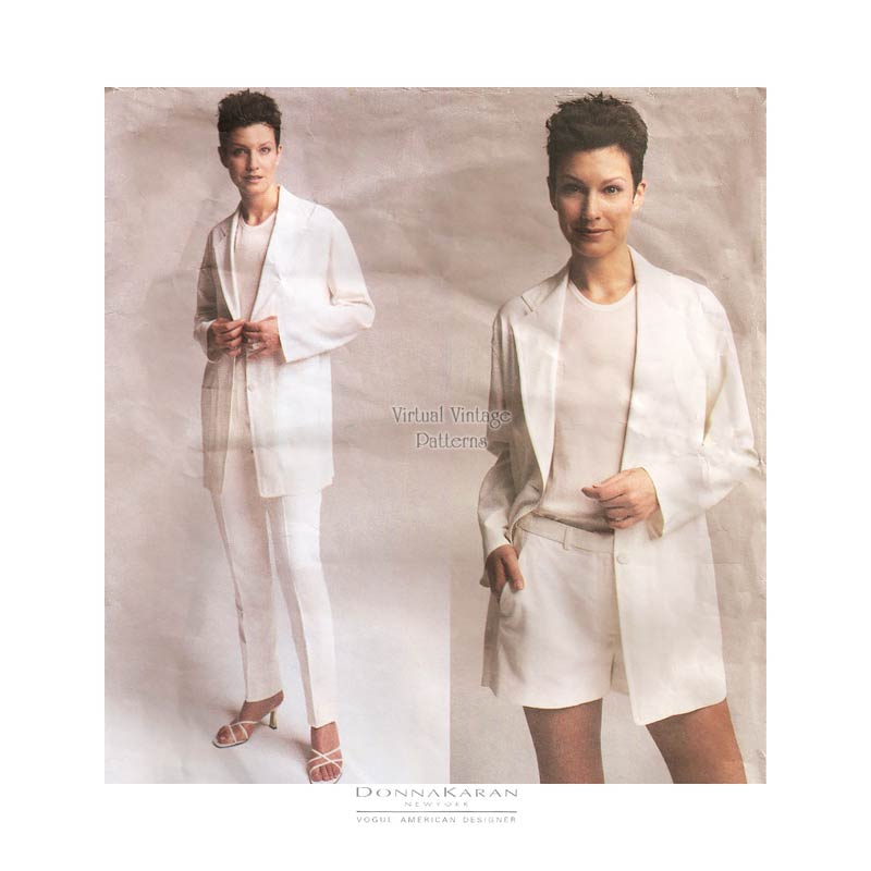 Donna Karan Jacket, Top, Shorts & Pants Patterns, Vogue American Designer 2738