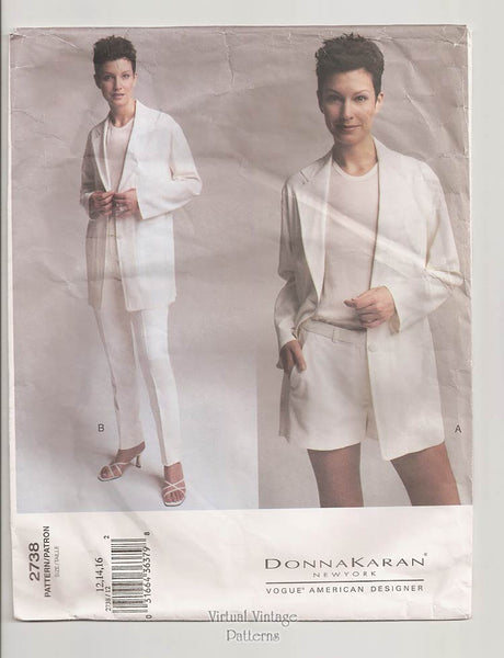 Vogue American Designer 2738, Donna Karan Jacket, Top, Shorts & Pants