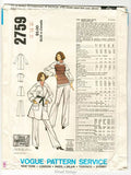 Valentino Fashion Vogue Couturier Design 2759 Vintage Sewing Pattern Womens Coat, Skirt, Pants, Top, Bust 38, Uncut