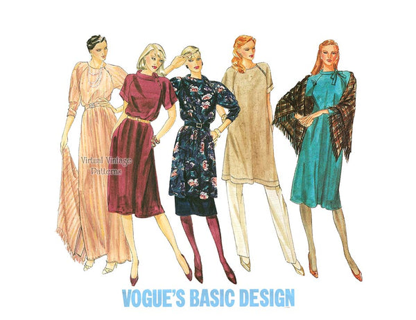 1980s Dress Patterns, Vogue Basic Design 2798