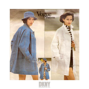 Women's Oversized Denim Jacket Pattern, Vogue 2958