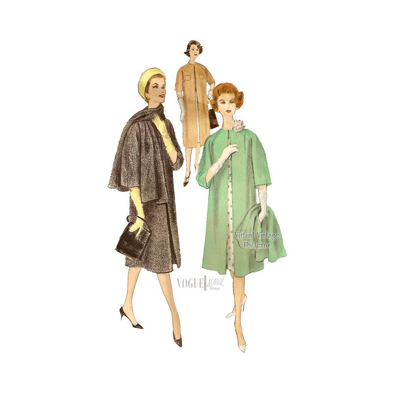 1950s Coat Pattern, Vogue Special Design 4001