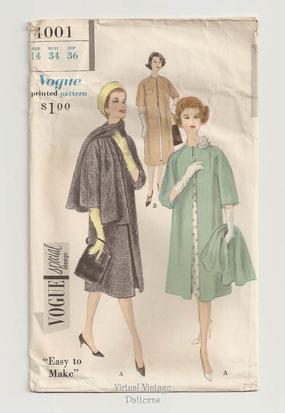 Vogue Special Design 4001, 1950s Coat Pattern