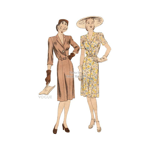 1940s Vogue Dress Pattern 5171
