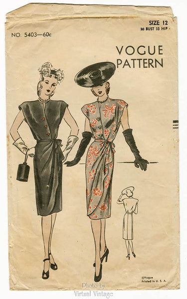 Vogue 5403, 1940s Dress Pattern