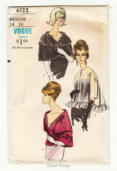 Vogue 6122 evening cape pattern