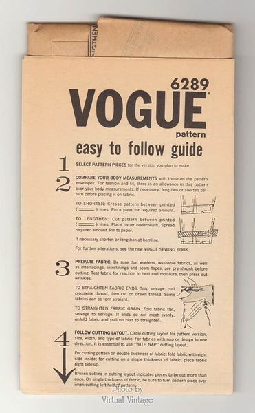 60s Coat Dress Pattern Vogue 6289 Step in A Line Dress with Kimono Sleeves & Pockets Bust 33 Uncut
