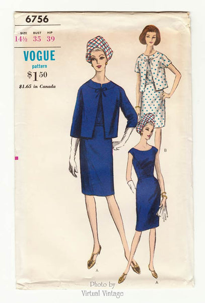 Vogue 6756, 1960s dress & jacket patterns