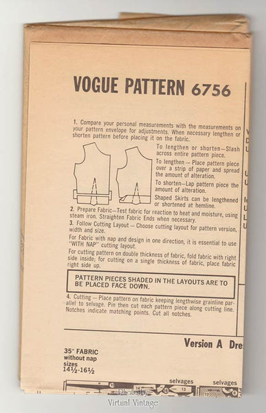 Vogue 6756. 60s jacket & dress pattern